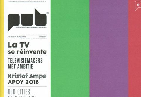 Couverture du magazine PUB créée par les étudiants en Publicité de l'IHECS