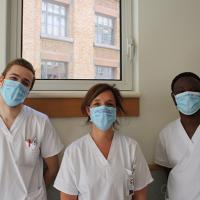 Nos étudiants infirmiers engagés plus que jamais auprès des patients